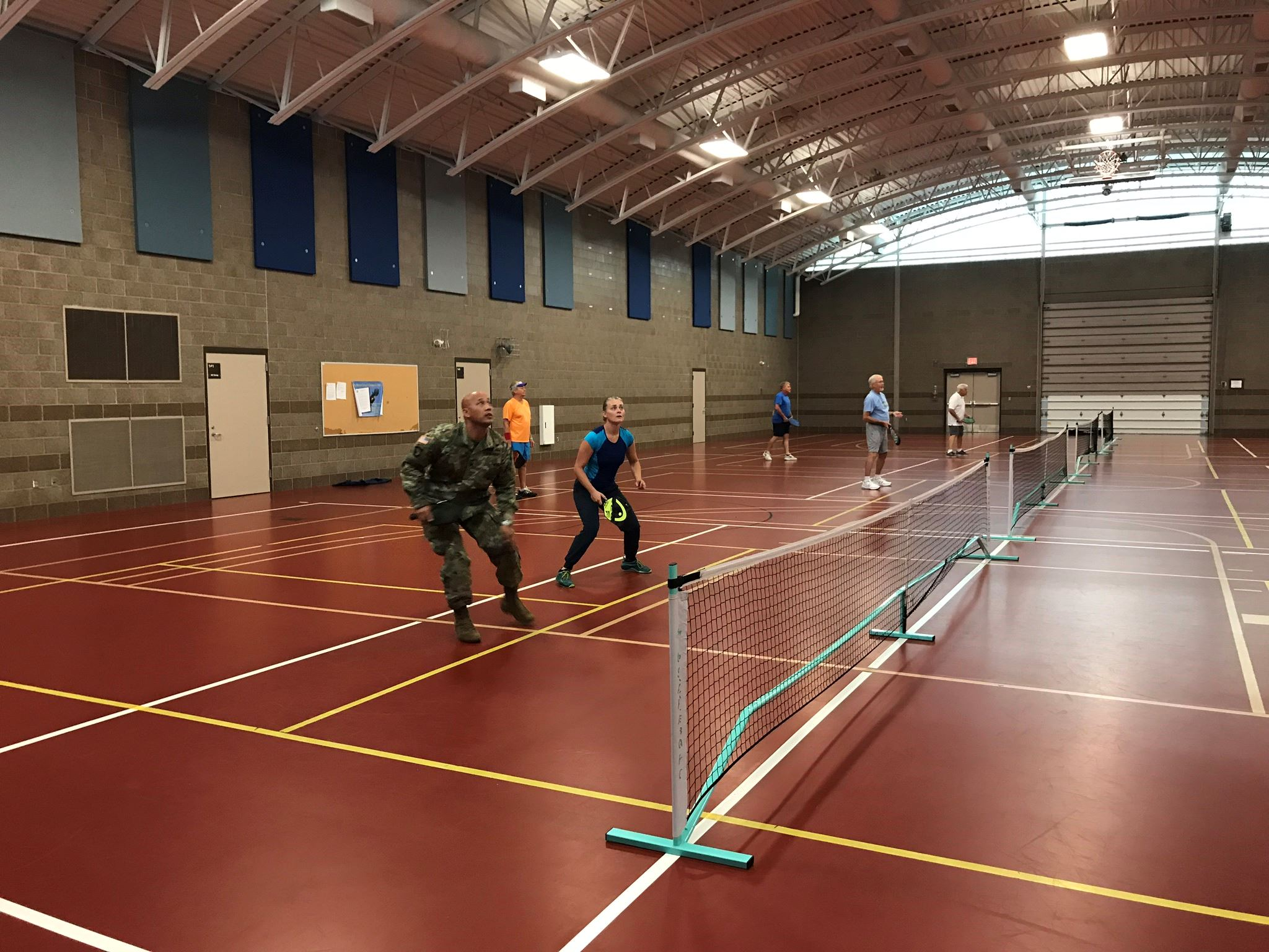 pickleball in gym